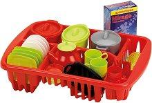 Детски кухненски съдове в сушилня - Комплект от 45 части - играчка