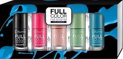 Flormar Full Color Nail Enamel - Подаръчен комплект с 5 цвята лак за нокти - шампоан