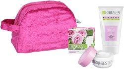 Подаръчен комплект - Nature of Agiva - С козметика за лице с розова вода - шампоан