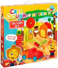 """Направи сам - Ферма - Творчески комплект с моделин от серията """"Crea Dough"""" -"""
