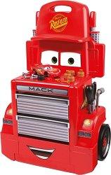 """Детски автосервиз с кола и инструменти - Маккуин - Комплект за игра от серията """"Колите"""" - играчка"""