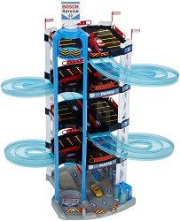 """Детски паркинг на 5 нива - Комплект с 2 колички от серията """"Bosch Service"""" - играчка"""