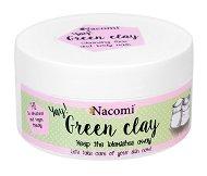 Nacomi Green Clay - Зелена глина на прах за мазна, комбинирана и склонна към акне кожа - душ гел