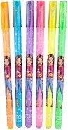 Блестящи неонови химикалки - Комплект от 6 цвята