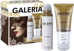 Galeria for Women Number 1 - Подаръчен комплект за жени с парфюм-дезодорант и душ гел -