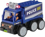 """Полицейски камион със светлинен ефект - Сглобяема играчка с дистанционно управление от серията """"Junior"""" -"""