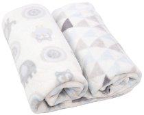 Бебешки одеяла - Owls - Компелкт от 2 броя с размер 70 x 80 cm - продукт