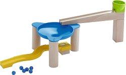 Сглобяема писта - Дрифт в кръга - Детска дървена играчка с топчета - играчка
