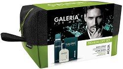 Galeria for Men Agua - Подаръчен комплект за мъже с афтършейв и парфюм-дезодорант -