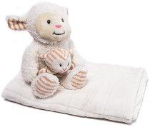 Бебешко одеяло с плюшени играчки - Sheep - Размери 76 x 114 cm -