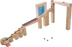 Сглобяема писта - Мелодични елементи - Детска дървена играчка с топчета -