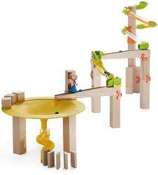 Сглобяема писта - Джунгла - Детска дървена играчка с топчета - играчка