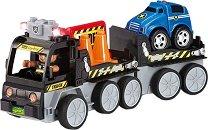"""Автовоз със светлинен ефект - Сглобяема играчка с дистанционно управление от серията """"Junior"""" -"""