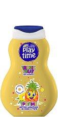 Детски шампоан за коса и тяло - Play Time - С аромат на тропически плодове - мокри кърпички