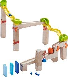 Сглобяема писта - Детска дървена играчка с топчета -