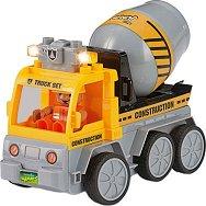 """Бетоновоз със светлинен ефект - Сглобяема играчка с дистанционно управление от серията """"Junior"""" - количка"""
