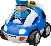 """Полицейска кола със светлинен и звуков ефект - Играчка с дистанционно управление от серията """"Junior"""" - творчески комплект"""