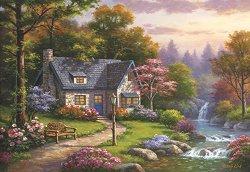 Къща край водопада - Сонг Ким (Sung Kim) - пъзел