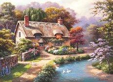 Селска къща с патенца - пъзел