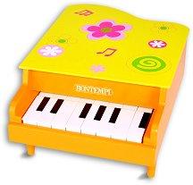 Пиано с 8 клавиша - Детски дървен музикален инструмент -