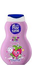 Детски шампоан за коса и тяло - Play Time - С аромат на ягода - мокри кърпички