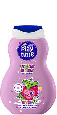 Детски шампоан за коса и тяло - Play Time - С аромат на ягода -