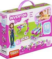 """Детски конструктор - 10 в 1 - Комплект от серията """"Inventor Girl"""" - играчка"""