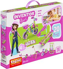 """Детски конструктор - 20 в 1 - Комплект от серията """"Inventor Girl"""" - играчка"""