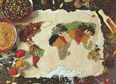 Билкова карта на света - пъзел