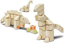"""Динозаври - 3 в 1 - Дървен конструктор от серия """"Docklets"""" - играчка"""