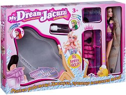 Джакузи за кукли - Комплект с кукла и аксесоари - творчески комплект