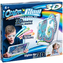 """3D дъска за рисуване - Творчески комплект от серията """"Color and Glow"""" -"""