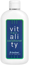 """Black Sea Stars Vitality Conditioner - Балсам за коса за обем и блясък от серията """"Vitality"""" - фон дьо тен"""