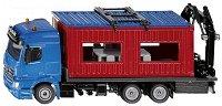 """Камион със строителен контейнер - Mercedes-Benz Arocs - Метална играчка от серията """"Super: Transporters & Loaders"""" - играчка"""