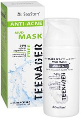 """Black Sea Stars Teenager Anti-Acne Mud Mask - Кална маска за лице и тяло против акне от серията """"Teenager Anti-Acne"""" - крем"""