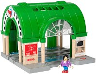 Централна ЖП гара с машина за билети - играчка