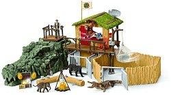 """Изследователска станция в джунглата - Комплект с фигури и аксесоари от серията """"Джунгла"""" -"""