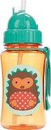 """Неразливаща се чаша със сламка - 350 ml - За бебета над 12 месеца от серията """"Таралежът Хъдсън"""" -"""