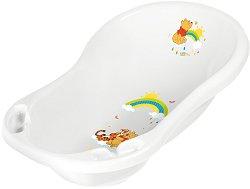 Бебешка вана за къпане с изход за оттичане - Мечо Пух - С дължина 84 cm - играчка