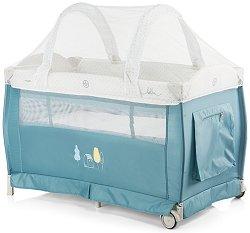 Сгъваемо бебешко легло на две нива - Bella 2018 - Комплект с аксесоари -