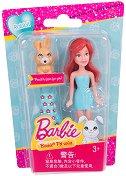 """Барби със зайче - Мини кукла с аксесоар от серията """"Домашни любимци"""" - играчка"""