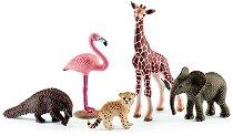 """Животните от Африка - Комплект фигури от серията """"Животни от дивия свят"""" - фигура"""