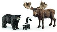 """Северноамерикански горски животни - Комплект фигури от серията """"Животни от дивия свят"""" - фигура"""
