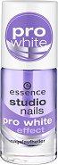 """Essence Studio Nails Pro White Effect - Избелващ лак за нокти против пожълтяване от серията """"Studio Nails"""" -"""