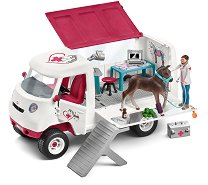 """Мобилен ветеринарен център с ханаверско конче - Комплект фигури и аксесоари от серията """"Клуб по езда"""" -"""