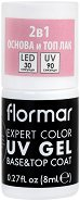 Flormar Expert Color UV Gel Base & Top Coat - База и топ гел лак 2 в 1 - душ гел