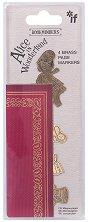 Отметки за книги - Alice in Wonderland - Комплект от 4 броя -
