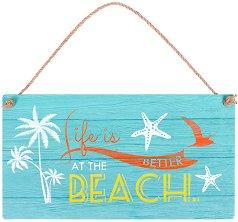 Табелка - поздравителна картичка Life is better at the beach -