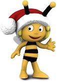 """Мая с коледна шапка - Фигура от серията """"Пчеличката Мая"""" -"""