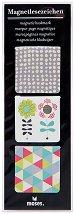 Магнитни разделители за книги - Цветя - Комплект от 3 броя -